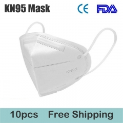 10 pcs KN95 Mask FFP2 Protective Mask Dustproof Anti-fog And Breathable Face Masks 95% Filtration Mouth Masks 4-Layer Mouth Muffle Cover