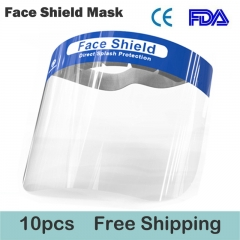10pcs Face Shield Transparent Protective Mask Full Face Shield Masks Anti-Fog Anti-Droplets Double Sided Safety Mask